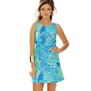 Lilly Pulitzer Blue Cathy Shift Lilly's Lagoon